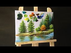 How to paint pine trees in acrylics & Making your own paint brushes - Bing video Acrylic Painting Trees, Acrylic Portrait Painting, Acrylic Painting Techniques, Painting Videos, Painting Lessons, Acrylic Art, Art Lessons, Watercolor Paintings, Painting Tips