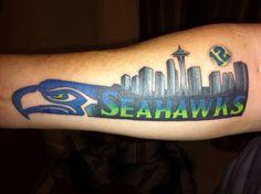 Seattle Seahawks tattoo done well!:)