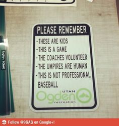 Little league sports definitely needs these rules.