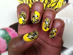 Banana nails #nailart