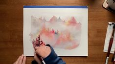 Painting these misty forests with moody watercolors is my favorite thing—perfect for daydreaming of autumn during the hot summer months! Check out my misty forest Skillshare class to learn some of these watercolor painting techniques! Watercolor Painting Techniques, Watercolor Video, Watercolour Tutorials, Painting Videos, Watercolor Illustration, Watercolour Painting, Painting & Drawing, Forest Illustration, Misty Forest