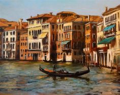 Original art for sale at UGallery.com | Venice Canal V by Jonelle Summerfield | $1,100 | oil painting | 22' h x 28' w | http://www.ugallery....