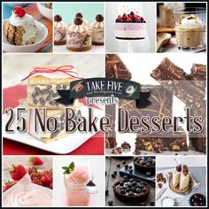 25 No-Bake Desserts - The Cottage Market Do You LOVE to hear the words NO-Bake? I know that I do especially when I am in need of a dessert in a hurry. You are going to love this assortment of scrumptious…delicious and gorgeous No-Bake Desserts. No Bake Treats, No Bake Desserts, Easy Desserts, Yummy Treats, Delicious Desserts, Sweet Treats, Yummy Food, Eat Dessert First, How Sweet Eats