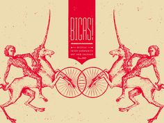 Bicas poster by Cast Iron Design