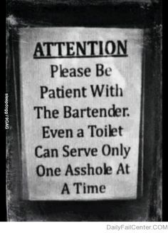 Attention! Bartender @ TOOO funny !
