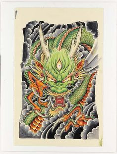 Aaron BellIn the early Aaron Bell found himself on a quest to learn as much. Japanese Dragon Tattoos, Japanese Tattoo Art, Japanese Tattoo Designs, Japanese Art, Koi Dragon, Asian Tattoos, Japan Tattoo, Oriental Tattoo, Irezumi Tattoos