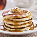 Sour Cream Pancakes with Maple Pecan Butter Recipe - Country Living