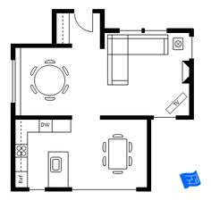 This Would Work Except The Formal Circle Dining Room Is Our Living Sample Ground Floor House Plan With Both A Kitchen Space And F