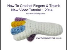 How To Crochet Fingers - YouTube