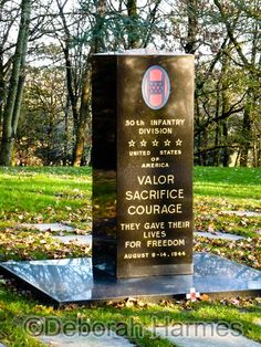 World War II memorial at the Petite Chapelle in Mortain, Normandy, France. ©Deborah Harmes