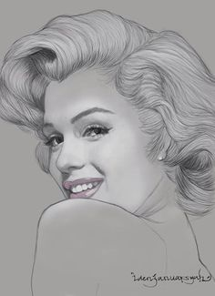 M. M. Arte Marilyn Monroe, Marilyn Monroe Drawing, Marilyn Monroe Tattoo, Marilyn Monroe Painting, Marilyn Monroe Photos, Portrait Sketches, Portrait Art, Pencil Art Drawings, Art Drawings Sketches