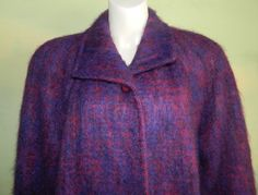 XL Vintage 80s Mohair Coat Rice Coat Company Made in by wyogems