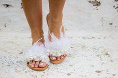 Wedding Sandals Bridal Sandals Boho Sandals Pearl Sandals | Etsy Pearl Sandals, Bridal Sandals, Boho Sandals, White Sandals, Leather Sandals, Swan Lake Wedding, Wedding White, Pom Pom Sandals, White Trim