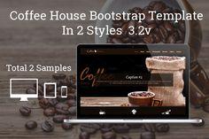 Coffee House One Page Bootstrap by Sainath Chillapuram on Creative Market