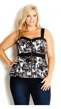 Plus Size City Lights Corset Plus Size Style Inspiration #UNIQUE_WOMENS_FASHION