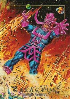 Galactus - 1992 Marvel Masterpieces by Skybox Marvel Villains, Marvel Comics Art, Marvel Comic Books, Marvel Heroes, Comic Books Art, Marvel Dc, Comic Art, Marvel Movies, Marvel Comic Character