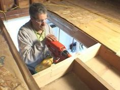 These basic steps from DIYNetwork.com show how to frame a trapdoor opening and install stairs leading into the attic.