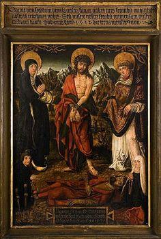 Obraz wotywny Grzegorza Nożownika, 1532 Poland, Lithuania, Religious Art, Herb, Renaissance, Crown, Painting, Europe, Grass