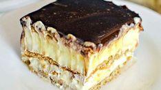 Nepečený Eclair dort s lahodnou čokoládovo-krémovou polevou! Připravený za 25 minut! | Vychytávkov