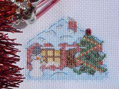 winter scene cross stitch