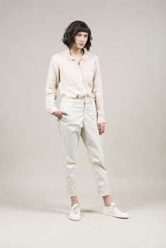 News Trouser, Off-White by Hope #kickpleat #hope