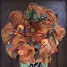 Autumn Deco Mesh Wreath