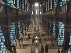 The Jedi Archives in the Jedi Temple on Coruscant - based on Trinity College's Long Room, Dublin