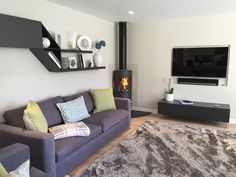 Best Photo free standing Fireplace Remodel Ideas – Rebel Without Applause Log Burner Living Room, Open Plan Kitchen Living Room, Living Room Flooring, Living Room With Fireplace, New Living Room, Living Room Decor, Corner Log Burner, Corner Wood Stove, Wood Burner Fireplace