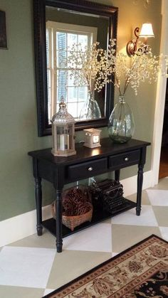 Check this, you can find inspiring Photos Best Entry table ideas. of entry table Decor and Mirror ideas as for Modern, Small, Round, Wedding and Christmas. Hallway Decorating, Entryway Decor, Foyer Table Decor, Front Entry Decor, Entryway Table Modern, Foyer Furniture, Concrete Furniture, Concrete Lamp, Kid Furniture