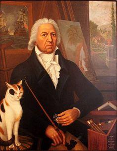 François Aimé Louis Dumoulin, Selbstporträt, 1832, Öl auf Leinwand; Musée du Vieux Vevey