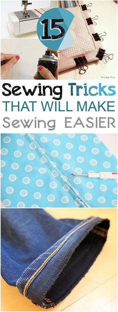 ".~15 Sewing Tips and Tricks that Make Sewing ""SEW"" Much Easier°°"