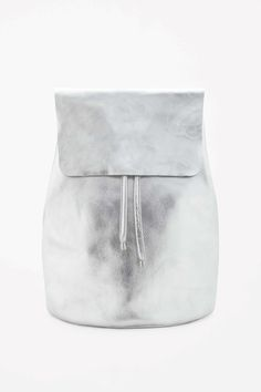 COS | Metallic leather backpack