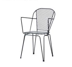 1655/LUGANO-A. Metal chair with arms. Outdoor/indoor use. Available in various colors. Have a project. Contact us..