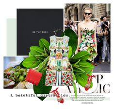 """Без названия #548"" by azi-izbassarova ❤ liked on Polyvore featuring Mary Katrantzou, Lanvin, Dsquared2, DANNIJO, red, prints, Elegant, floralprint and summer2015"