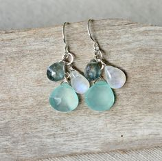 Sterling Silver Gemstone Dangle Earrings / by mysmallhawaiianhome