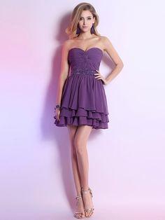 Grape Affordable Short/Mini Criss Cross and Sequins Chiffon Sweetheart Prom Dress - dressesofgirl.com