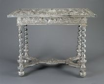 This silver table is thought to have been supplied to Charles II c. 1670. Silver furniture was the height of royal fashion in the second half of the 17th century, but it is very rare today.ca. 1670. The Royal Collection Trust, The British Monarchy.