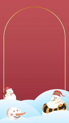 Gold frame with snowman pattern mobile phone wallpaper vector | premium image by rawpixel.com / macc Pastel Pattern, Merry Christmas And Happy New Year, Pattern Wallpaper, Holidays And Events, Digital Illustration, Royalty Free Images, Free Design, Vector Art, Design Elements