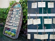Boat with escort cards, rustic and fun.