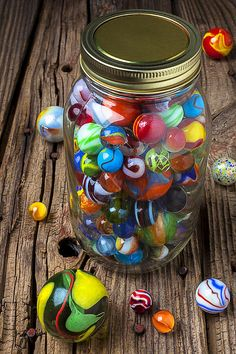 Science Discover Jar Of Marbles With Shooter Photograph by Garry Gay - Jar Of Marbles With Shooter Fine Art Prints and Posters for Sale Bazar Bizarre Marble Jar Gravure Illustration Marble Games Glass Marbles World Of Color Glass Ball Old Toys Retro Marble Jar, Gravure Illustration, Marble Games, Glass Marbles, World Of Color, Glass Ball, Old Toys, Belle Photo, Rainbow Colors