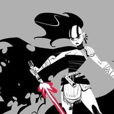 Sith... complete version on my Facebook. #starwars #sith #girl #b&w