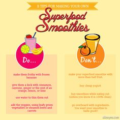 If you are into making your own superfood smoothies, here are some tips. Do you have any others? #superfoods #smoothies #breakfastsmoothies