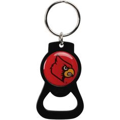 Louisville Cardinals Bottle Opener Keychain - Black