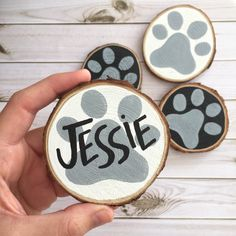 Items similar to Personalised dog ornament. Wood Ornaments on Etsy Dog Ornaments, Wooden Ornaments, Ornament Crafts, Personalized Ornaments, Diy Christmas Ornaments, Holiday Crafts, Christmas Wood, Christmas Projects, Beach Christmas