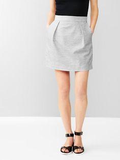 Heathered pleated mini skirt Product Image