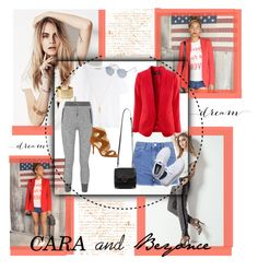 """""""Cara and Beyoncé """" by shanaramadi ❤ liked on Polyvore featuring Acne Studios, Topshop, rag & bone, Melanie Auld, Kenneth Cole, Ray-Ban, Alexander Wang, Keds and Marc Fisher"""