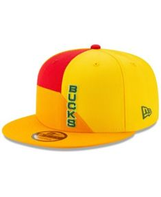 f6d77a3352b New Era Milwaukee Bucks City Series 2.0 9FIFTY Snapback Cap - Yellow  Adjustable Milwaukee Bucks