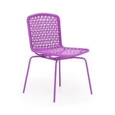 Loose Weave Steel Chair - Set of 4
