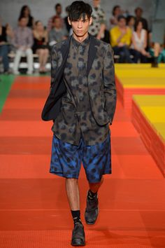 all over print short suit. camo. Kenzo Spring 2013 Menswear