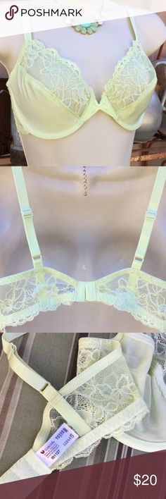 Wacoal 38 B Lime green underwire Bra Been washed once..I really need a C, so you get the good deal of me buying a brand new bra and washing once to sell! These r sold at Macy's and Nordstom Wacoal Intimates & Sleepwear Bras